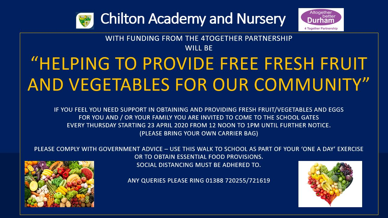 Helping to Provide Free Fresh Fruit and Vegetables to Our Community Poster