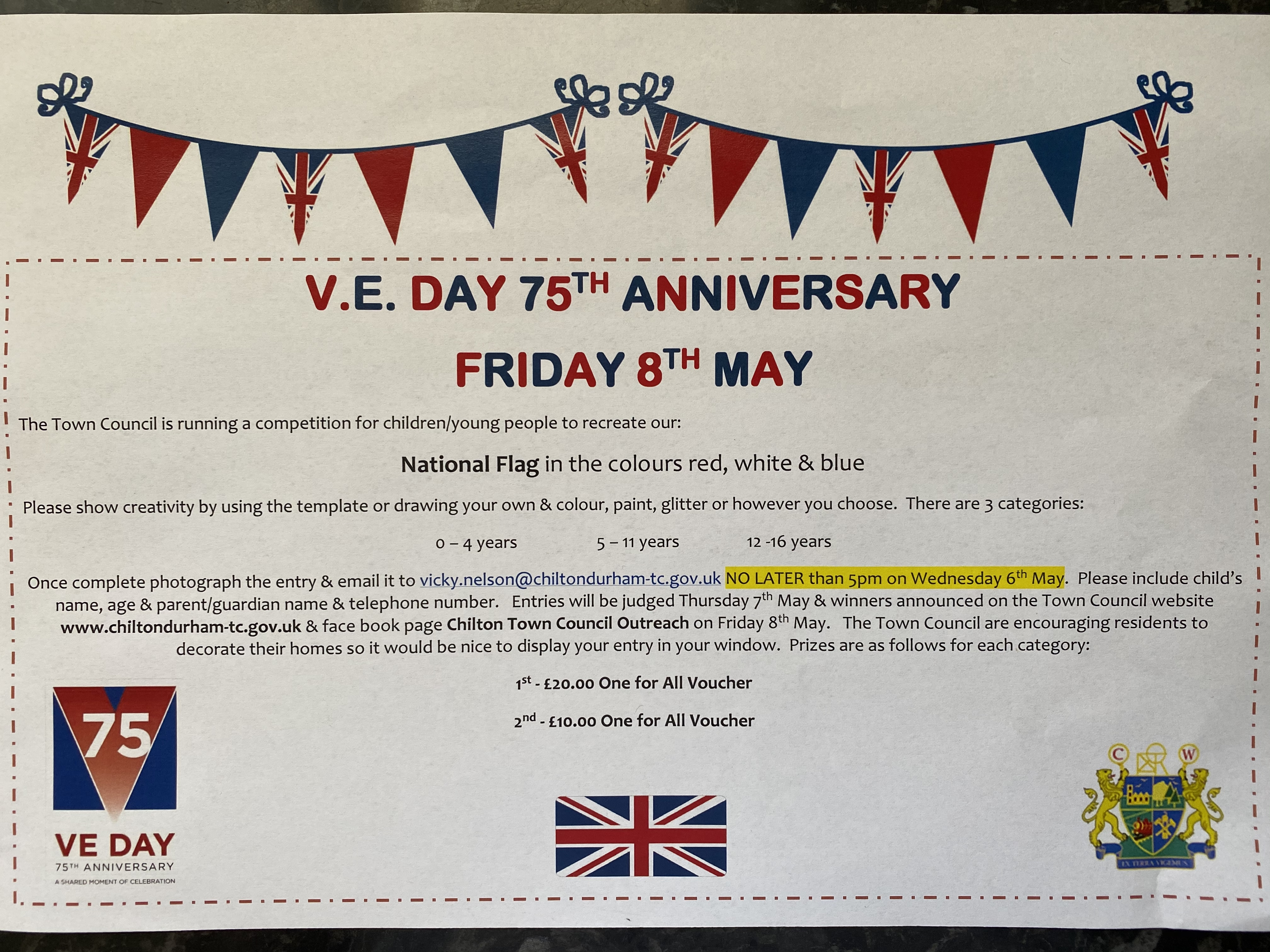 VE Day 75th Anniversary - Flag Competition poster