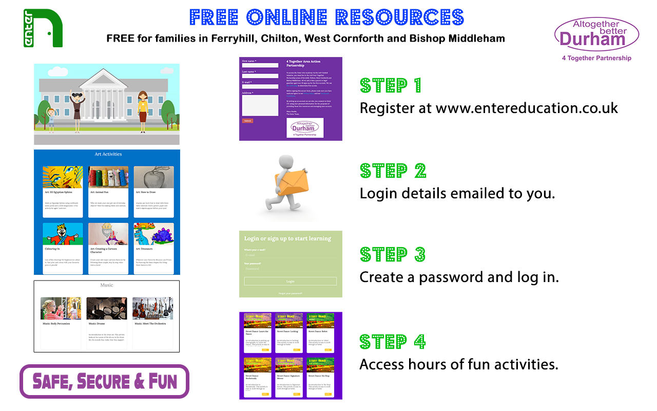 CIC free online art resources poster