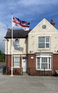 Armed forces day flag on flagpole