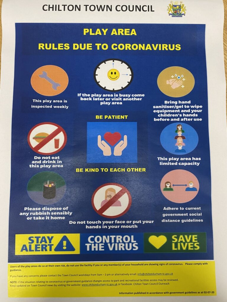 Play are rules due to coronavirus poster