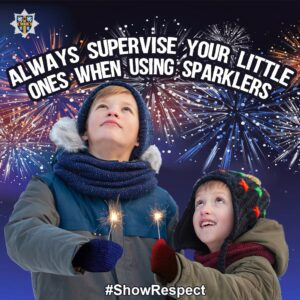 Supervise children with sparklers