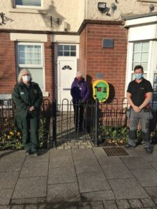 Defibrillator unveiling at chilton town council