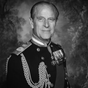 Black and white picture of His Royal Highness the Duke of Edinburgh