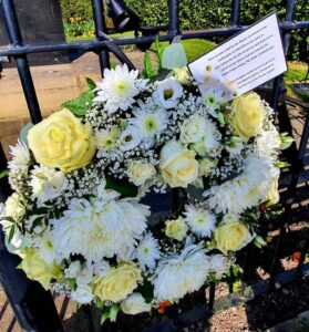Wreath 2 re passing of HRH Prince Philip